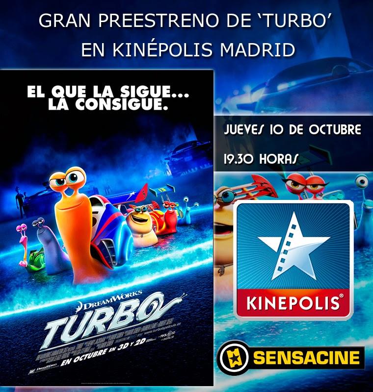 "Sensacine, Kinepolis y De Fan a Fan te invitan a ver ""Turbo"""