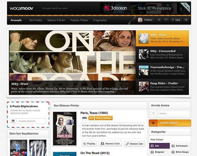 WordPress WocaMoov Film Teması İndir
