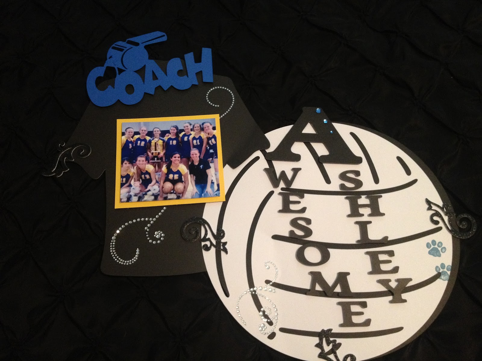 This is the gym wall decoration for the main coach of the team
