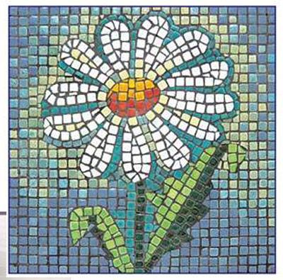 Arte educadora c ntia alves trabalho com mosaico for El mural de mosaicos
