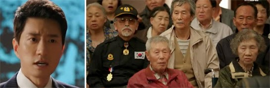 Kim Suk Joo argues in court while elderly victims watch in dismay.