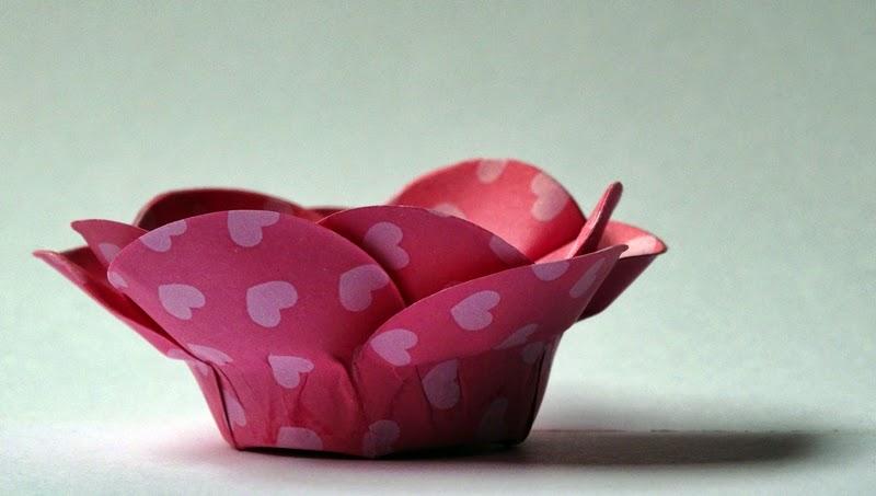 Forminha flor de papel estampado 2 camadas