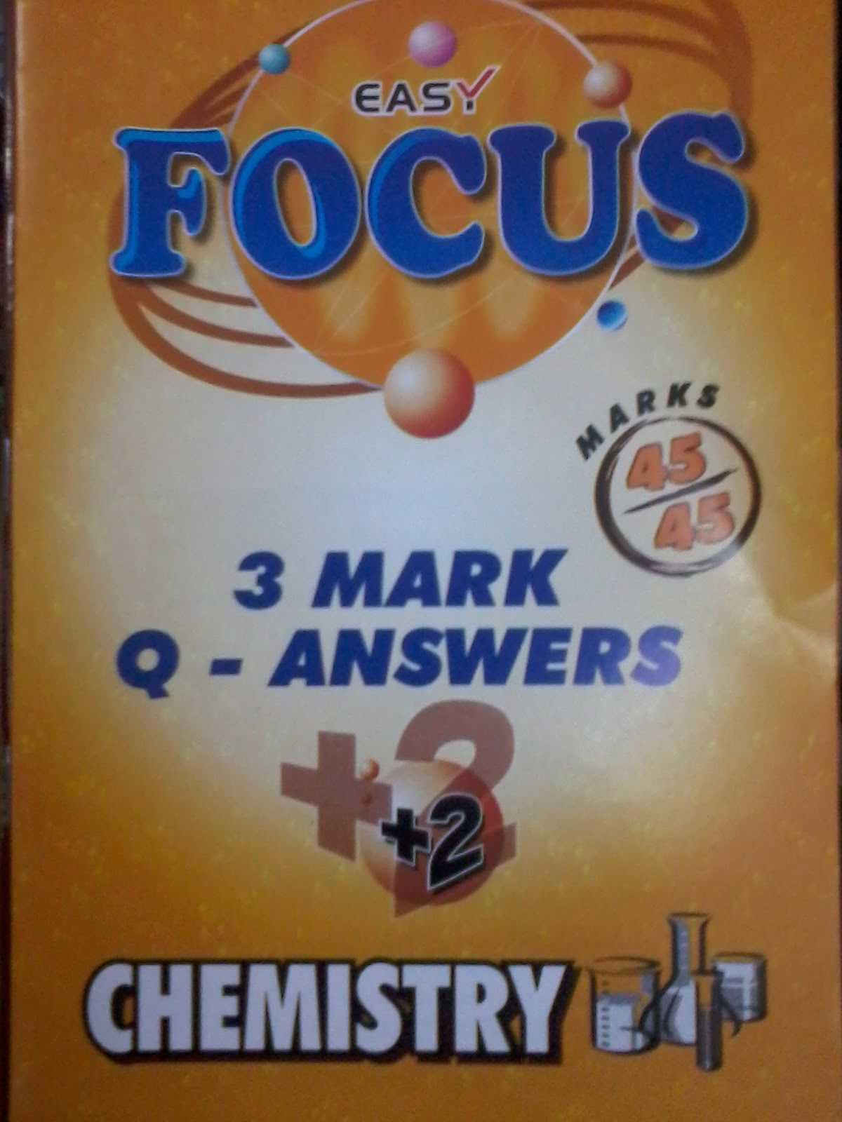 +2 Chemistry  3Marks  Question &  Answer by  Easy  Focus