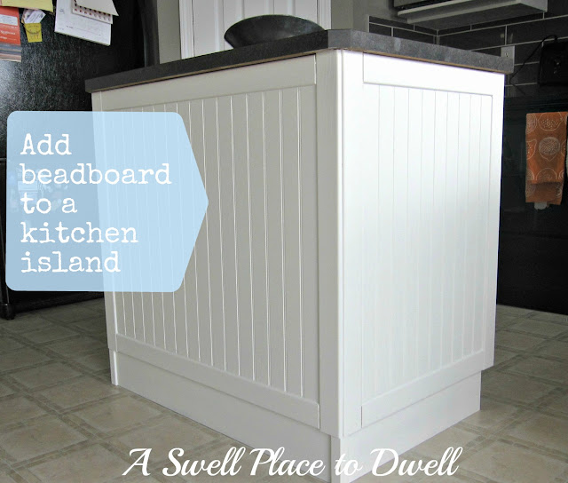 Winners of the kitchen makeover and decor challenge the for Add beadboard to kitchen cabinets