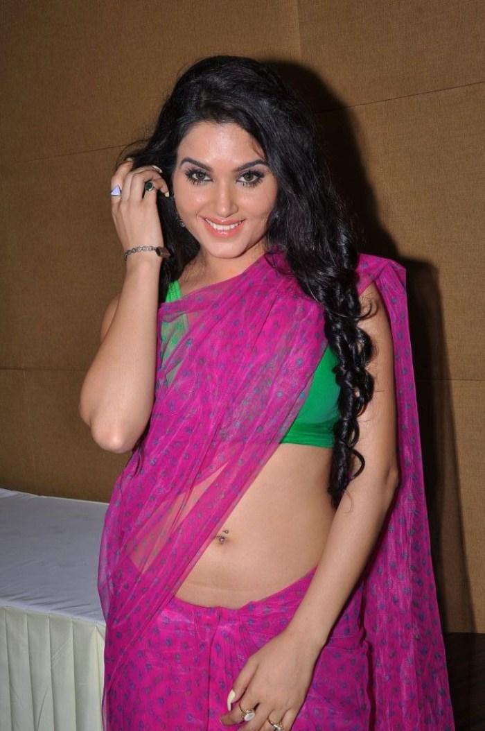 Kavya Singh in Transparent Saree Kavya Singh in Saree Latest