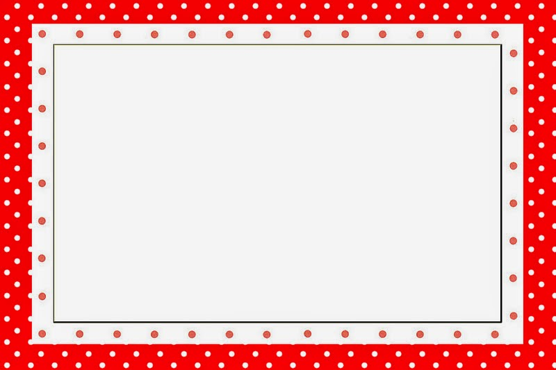 Red And White Polka Dots Free Printable Invitations Oh My