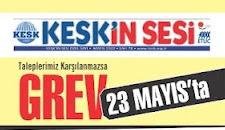 23 MAYISTA GREVDEYİZ...