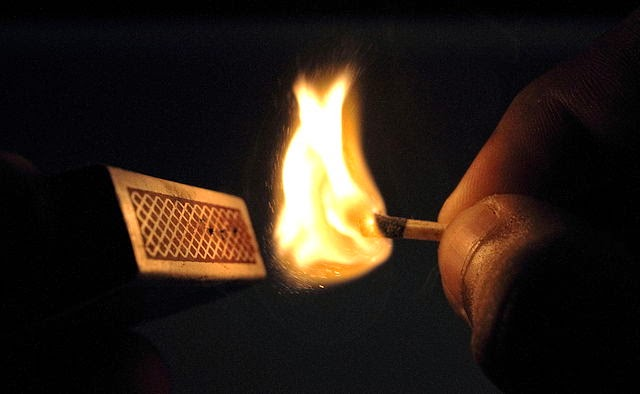 Giveaway guy why does lighting a match in the bathroom eliminate odor lighting a match with match box aloadofball Images