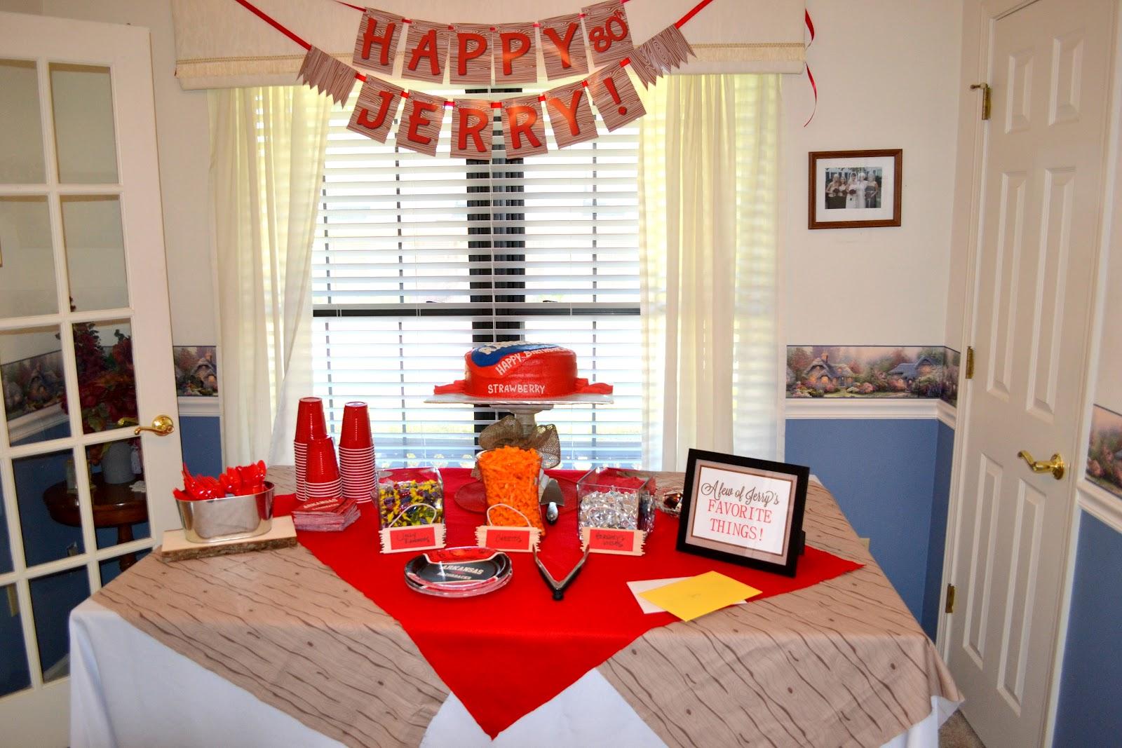 GreyGrey Designs Real Parties My Grandpas 80th Birthday Party