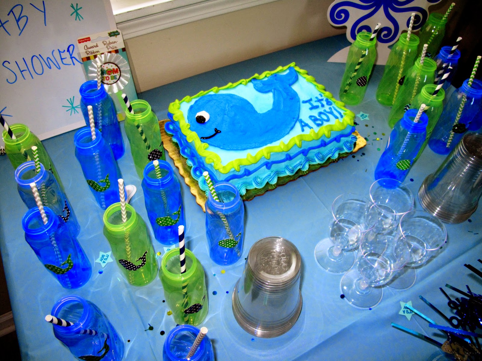 for the love of character whale themed baby shower