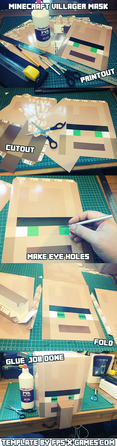 How to create your own Minecraft villager mask