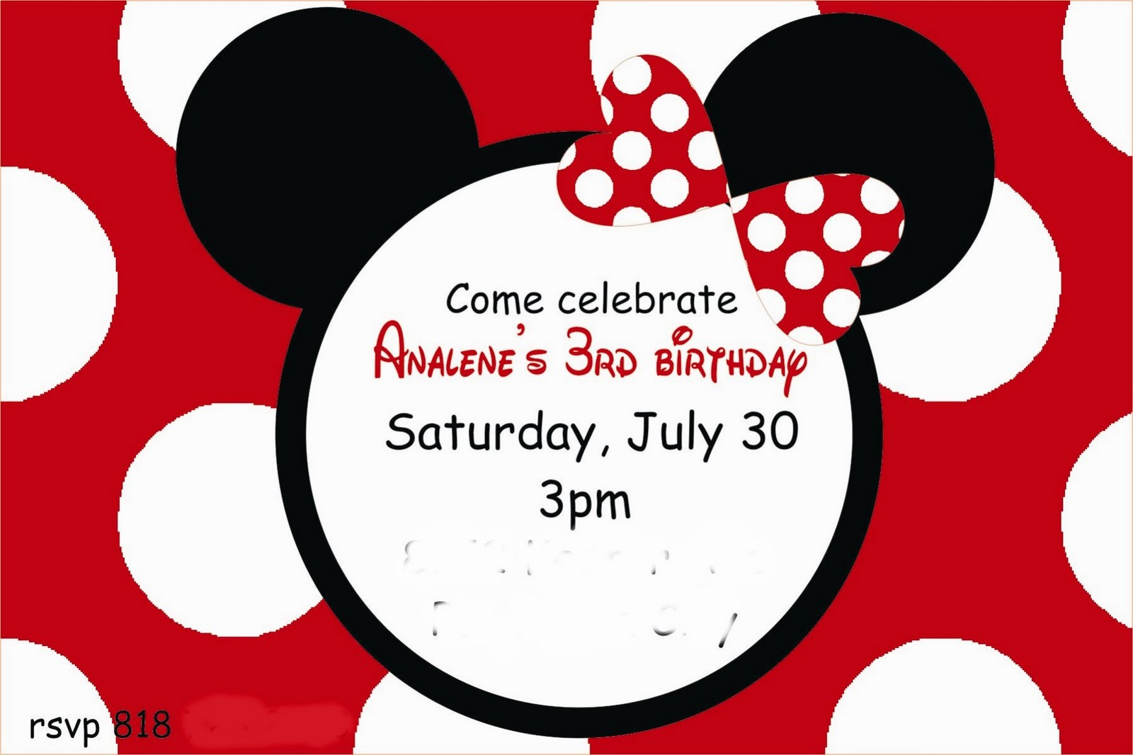 Lollipops & Paper: Minnie Mouse Inspired 3rd Birthday
