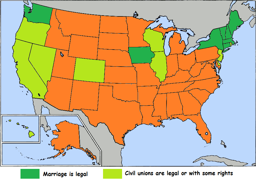 Same Sex Marriage In The Us Map Maintainingtroopscf - Map of same sex marriage in the us
