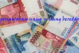 definisi penawaran uang menurut ahli ekonomi