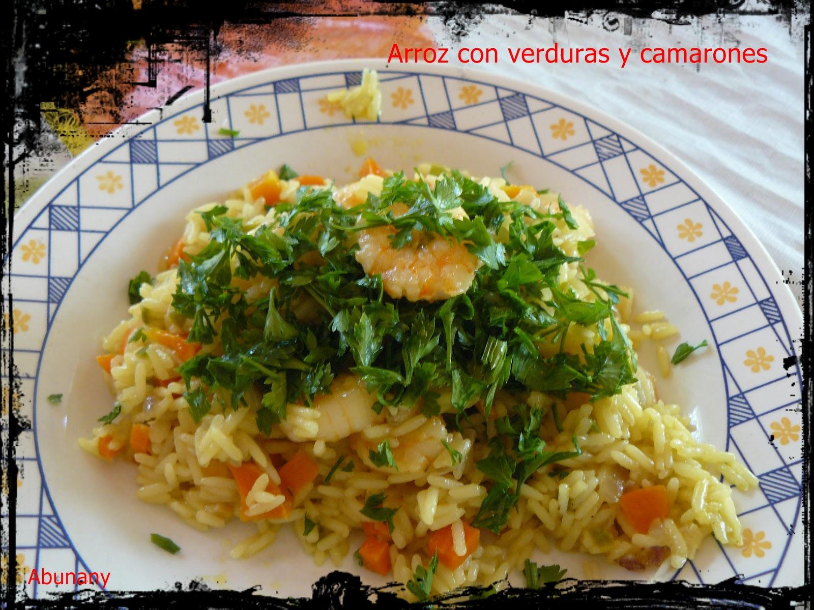 Recetas Con Camarones Con Verduras Arroz Con Verduras y Camarones