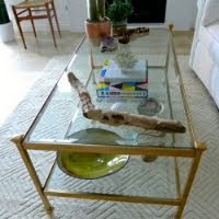 Gilding A Coffee Table DIY