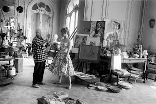 Pablo Picasso, Brigitte Bardot, paint, Vallauris studio