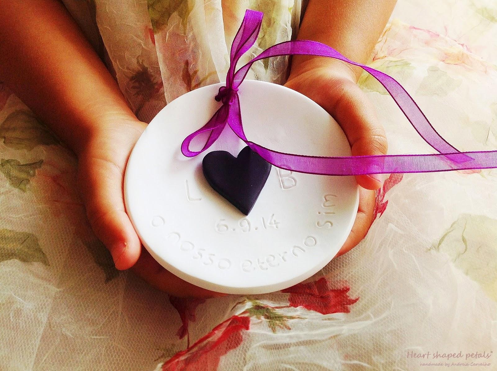 Ring bearer dish purple heart