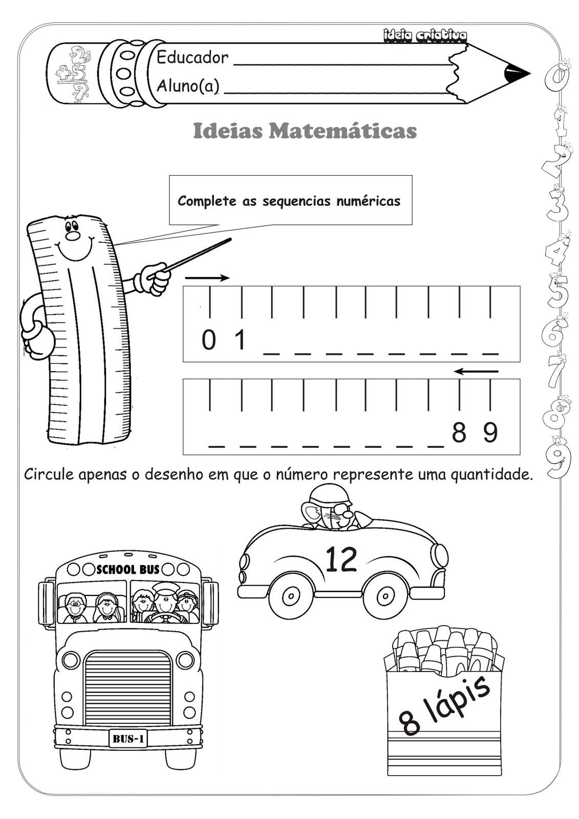 Sequência Numérica Ideias Matemáticas Medida Contagem e Soma
