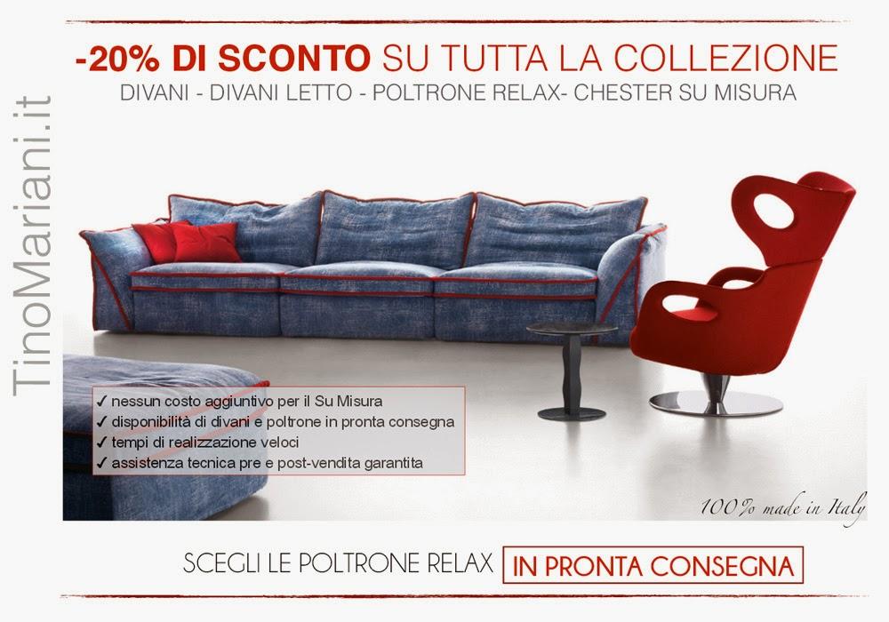 Nuova promozione online: divani e poltrone scontati del 20% | Tino ...