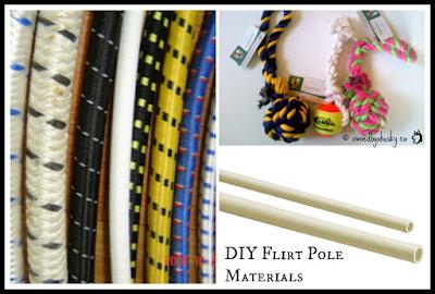 DIY flirt pole materials