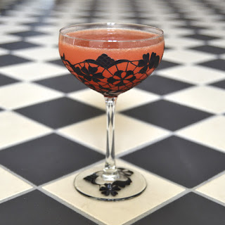 Geordie Lass Cocktail - Lace coupe by Toasted Glass