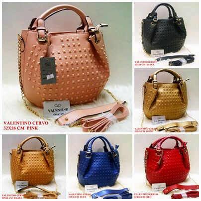 Tas Valentino terbaru Tas Valentino Cervo pink biru merah gold hitam supplier eceran grosir tas harga murah
