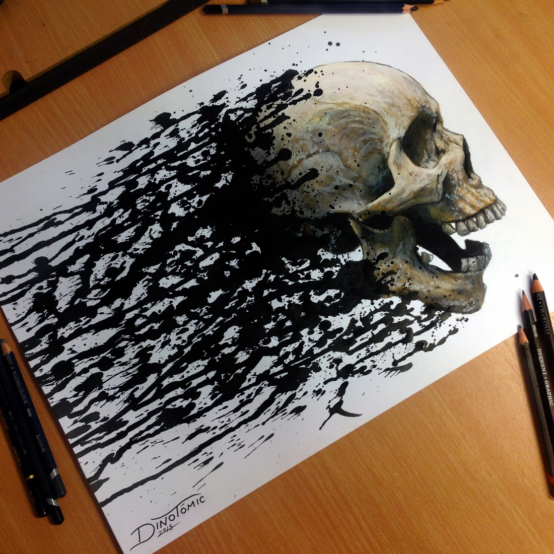 11-Skull-Splatter-Dino-Tomic-AtomiccircuS-Mastering-Art-in-Eclectic-Drawings-www-designstack-co
