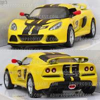 MiIniatur Mobil Lotus Exige S Stripe