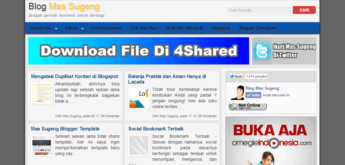 Blog Mas Sugeng 2013