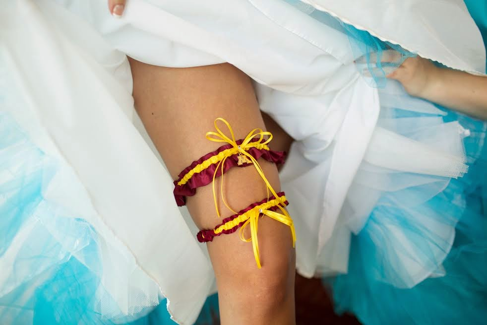 Minnesota Golden Gophers Wedding Garter Set by Sugarplum Garters