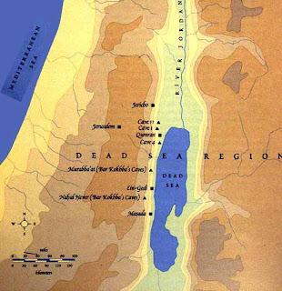 bizzarro mesianismo qumran map