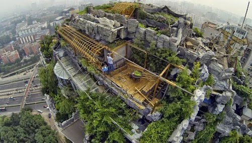 Insolita villa en rascacielo de Pekin