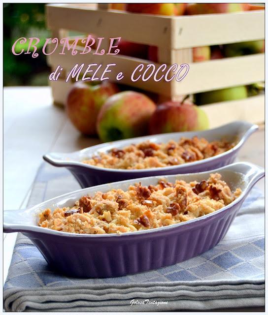crumble di mele e cocco