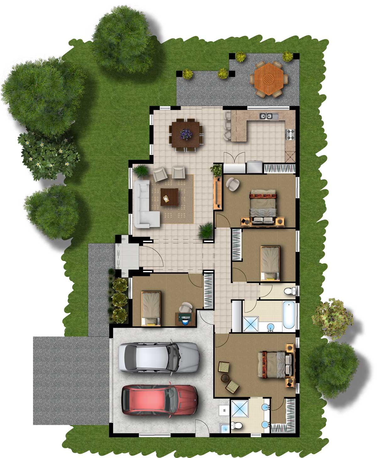 lar doce lar   planta  su u00edte mais dois quartos com garagem