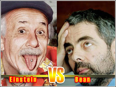 Albert Einstein vs Mr. Bean