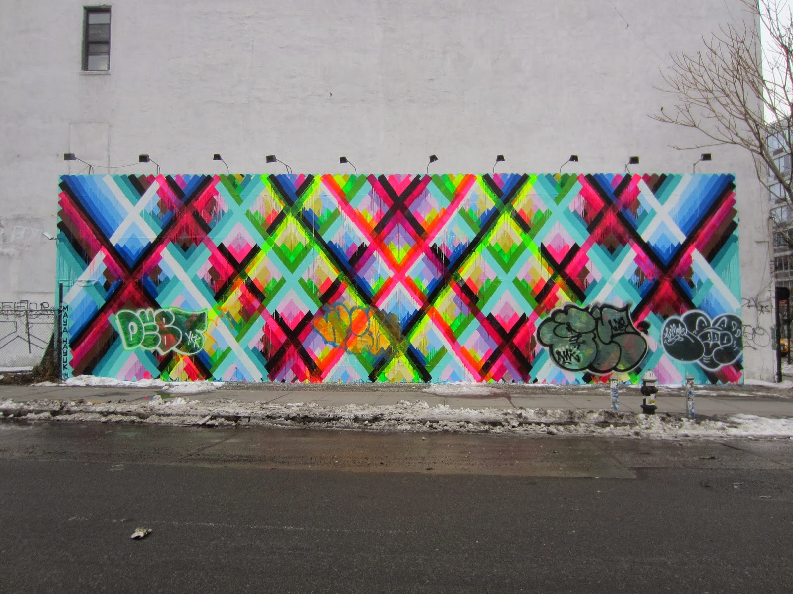 Ev grieve bombed again at the houston bowery mural wall for Bowery mural nyc