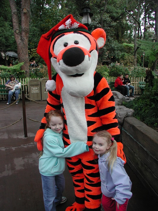 Tigger character photo outside Winnie the Pooh