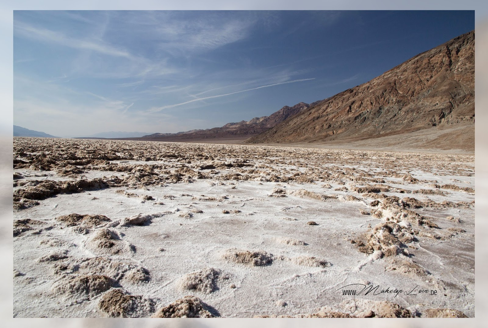Nevada Badwater Basin Salz
