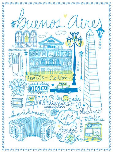 Ilustración de Buenos Aires