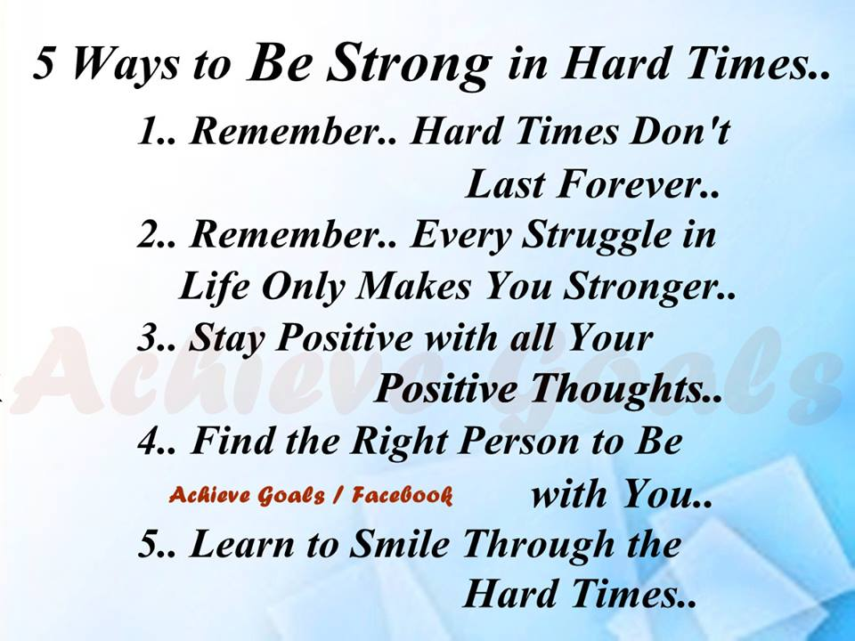 quotes about being strong through hard times