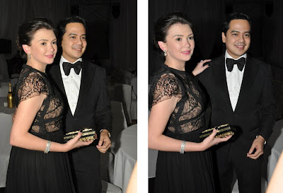 John Lloyd Cruz and Angelica Panganiban spotted together at Star Magic Ball 2012