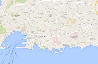 Split mapa Jak dojechać do portu