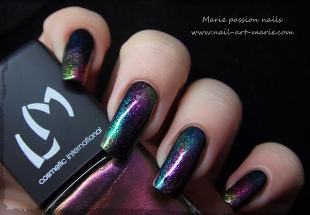 Nail art aurore boréale9