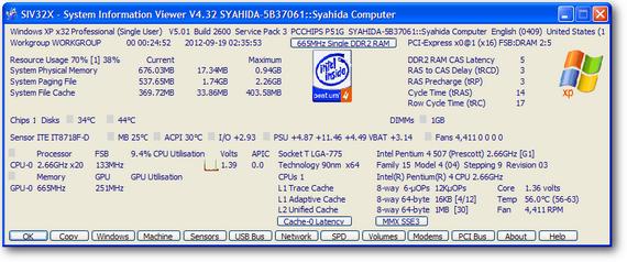 SIV | System Informastion Viewer yang lengkap untuk windows