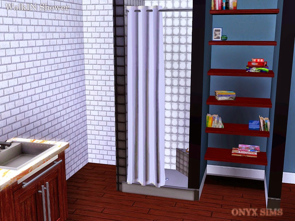 My Sims 3 Blog: Walk In Shower by Onyx Sims