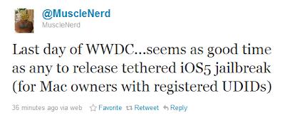 Musclenerd veröffentlicht tethered Jailbreak iOS 5