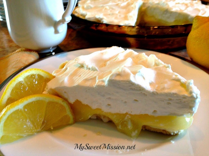 Lemon Supreme Shortbread Pie by My Sweet Mission
