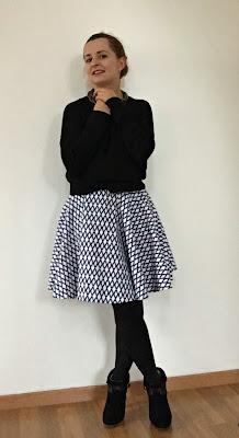 Blog Chic Choc jak uszyć spódnicę z koła ?