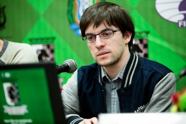 Échecs : Dmitry Jakovenko 1-0 Maxime Vachier-Lagrave dans la ronde 5 - Photo © Kirill Merkurev